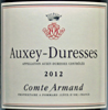 2012 - Comte Armand - Auxey-Duresses  - case (6x75cl) in bond