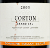2003 - Tollot-Beaut - Corton Grand Cru