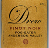 2012 Drew Family Cellars Anderson Valley Pinot Noir  Fog Eater