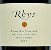 2013 - Rhys - Santa Cruz Mountains Pinot Noir  Horseshoe Vineyard - 75cl [in bond]