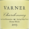 2013 Varner Santa Cruz Mountains Chardonnay  Spring Ridge Vineyard Home Block