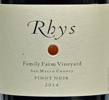 2014 - Rhys - San Mateo County Pinot Noir  Family Farm Vineyard