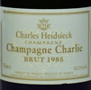 """1985 Charles Heidsieck Champagne Oenotheque """"Champagne Charlie"""" Brut"""